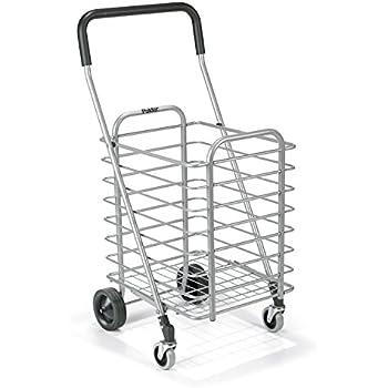 "Polder STO-3022-92 Superlight Shopping Cart, 30 lb. Capacity, 19.25"" x 16.5"" x 34"", Aluminum"
