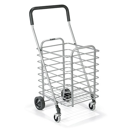 Polder STO-3022-92 Superlight Shopping Cart, 30 lb. Capacity, 19.25'' x 16.5'' x 34'', Aluminum by Polder