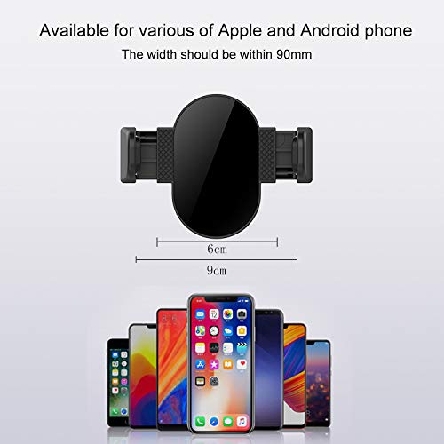 Universal Air Vent Mount Car Phone Mount with Electric Auto Lock Compatible for iPhone Models: X/Max XR/8/7 Plus & Galaxy Models: S 9/8 Plus, Note 9/8