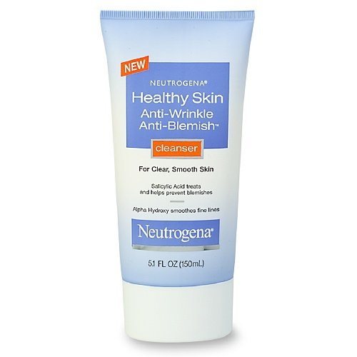 Johnson and Johnson Neutrogena Healthy Skin Anti-Wrinkle Anti-Blemish Cleanser, 5.1 Ounce -- 12 per case.