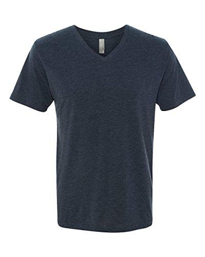 next-level-apparel-6040-mens-tri-blend-v-neck-tee-vintage-navy44-large