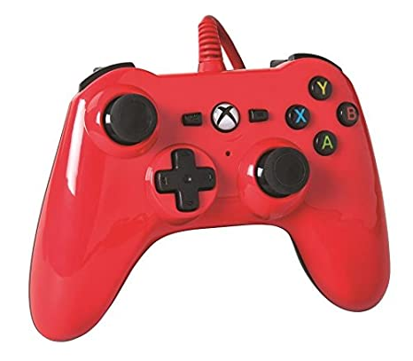 Amazon.com: Xbox One Mini Series Wired Controller (Xbox One); Red ...
