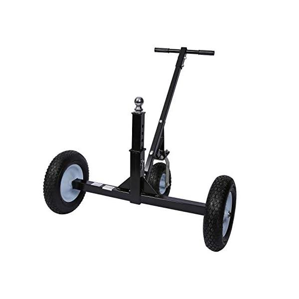 418NKtlBu4L Rangierhilfe für Anhänger & Wohnwagen, 3 Räder, bis 453,6 kg, höhenverstellbare Kupplungskugel