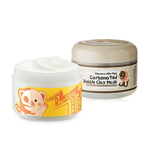Elizavecca Milky Piggy Carbonated Bubble Clay Mask + Elizavecca Wrinkle care Revitalize EGF Retinol Cream