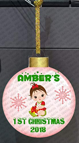 Baby's First Christmas personalized acrylic ornament + letter from santa #1209