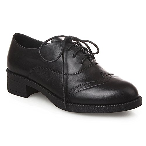 Black MINIVOG Oxfords Block Brogue Women Wingtips Heel zCp6q8w