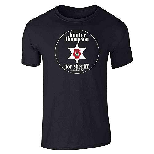 Hunter S Thompson for Sheriff Books Funny Black XL Short Sleeve T-Shirt