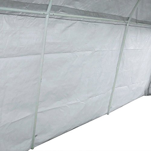 Quictent 20'X13'x10' Heavy Duty Carport Canopy Garage Shelter for Truck/ SUV/ Boat Silver by Quictent (Image #3)