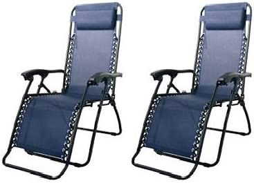 Caravan Canopy Blue Steel-frame Zero Gravity Chairs 80009000022 Pack of Two