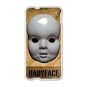 HTC One M7 Cell Phone Case White Babyface Phone cover R49393550