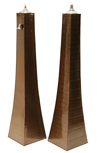 Outdoor Interiors 50300AST-CP Pyramid Torch (2 Pack), Large, Copper by Outdoor Interiors