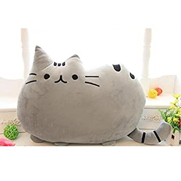 Amazon.com : 40x30cm Cute cat sleeping pillow with Zipper only skin without PP cotton white cushion pusheen pillows not filler gifts for kids : Baby