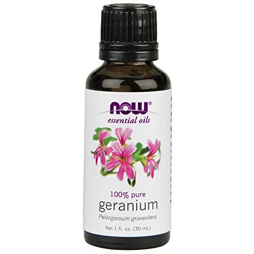 - NOW Essential Oils, Geranium Oil, Soothing Aromatherapy Scent, Steam Distilled, 100% Pure, Vegan, 1-Ounce
