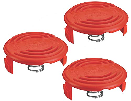 Black & Decker RC-100-P 385022-03 Replacement Spool Cap for AFS Trimmer (3 Pack)
