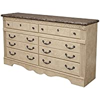 Sandberg Furniture Amalfi 6-Drawer Dresser, Warm Bisque Oak