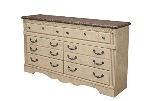 Sandberg Furniture Amalfi 6-Drawer Dresser, Warm Bisque (Heritage Collection Bedroom Chest)