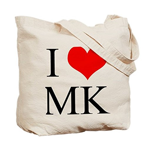 CafePress I Love–MK–gamuza de bolsa de lona bolsa, bolsa de la compra