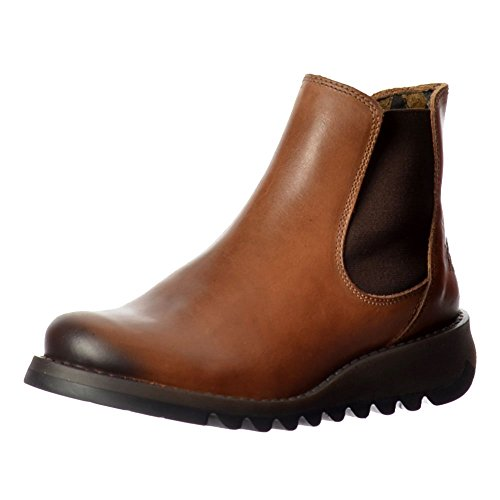 Fly London Salv Camel Mujeres Cuero Ankle Botas