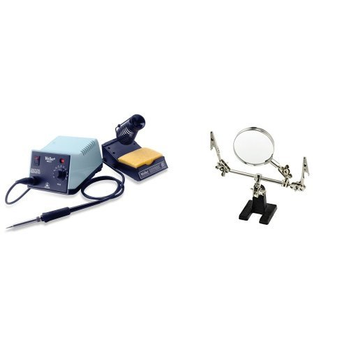 Weller WES51 Analog Soldering Station and SE MZ101B Helping Hand with Magnifying Glass