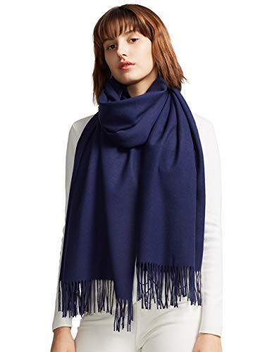 - MaaMgic Womens Large Soft Cashmere Feel Pashmina Shawls Wraps Light Scarf, Navy