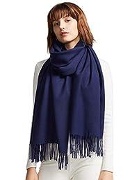 Womens Large Soft Cashmere Feel Pashmina Shawls Wraps...