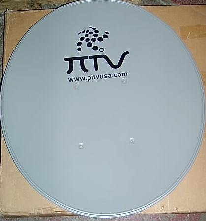 """Lot of 2 (TWO) - 24"""" Satellite Dish Antenna w/ Hardware - FTA - Great for International TV Including Persian, Chinese, Arabic, Asian, Latin Television - 60cm - Mounting Brackets & Pole are Included - Pitvusa - Pi TV USA"""