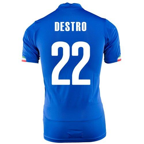 ワーム包帯構成PUMA DESTRO #22 ITALY HOME JERSEY WORLD CUP 2014/サッカーユニフォーム イタリア代表 ホーム用 ワールドカップ2014 背番号22 デストロ