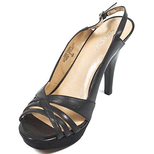 NINE WEST - Damenschlinge Zurück Sandalen NWSTUNNER BLACK Hacke: 10 cm