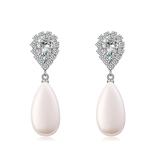 Paxuan Pierced Teardrop Earrings Hypoallergenic