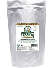 TOP's Napoleon's Seed Mix for All Small Hookbills - Non-GMO, Peanut Soy & Corn Free, USDA Organic Certified