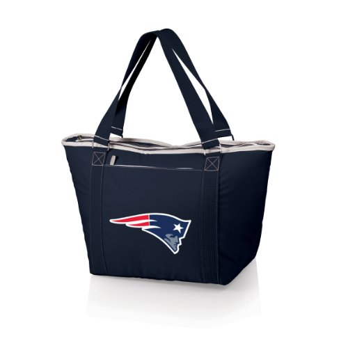 (NFL New England Patriots Topanga Insulated Cooler Tote, Navy)
