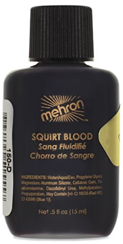 [Mehron Makeup Squirt Blood, DARK VENOUS- for Special Effects| Halloween| Movies - 0.5 oz] (Costume Party Run Times)