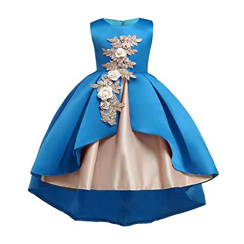 (Tsyllyp Little Girls Princess Party Pageant Dress Tulle Wedding Birthday Dresses)