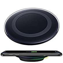 Qi Wireless Charger, ABC Qi Wireless Charger Charging Pad for Samsung Galaxy S7 / S7 Edge Smartphone (Black)