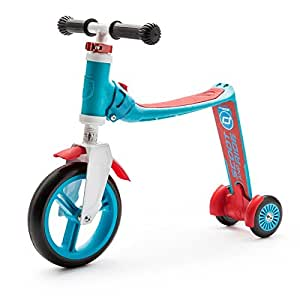 Scoot & Ride highwaybaby+ 2-in-1 Scooter & Balance Bike ,Ride On-Blue