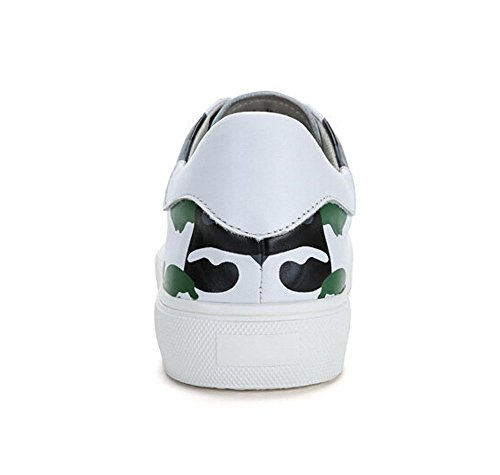 Camel Mens Cuir Décontracté Bas-bas Sneaker Couleur Blanc / Vert Taille 42 M Eu