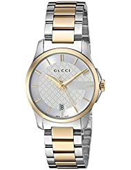 Gucci Swiss Quartz Stainless Steel Dress Two-Tone Womens Watch(Model: YA126563)