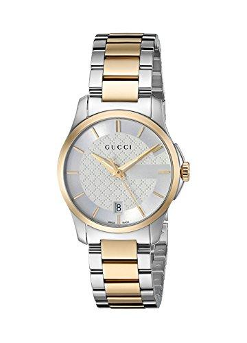 Gucci Women's Swiss Quartz Stainless Steel Dress Watch, Color:Two Tone (Model: YA126563)