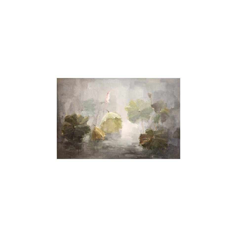 Lily Pond MODERN ART LARGE OIL Painting 24 X 36   HAND PAINTED CANVAS ART