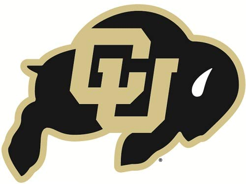 3 inch CU Buffs Logo Decal University of Colorado Buffaloes CO Removable Wall Sticker Art NCAA Home Room Decor 3 by 2 inches