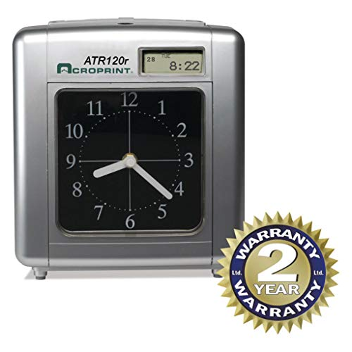 ACP010212000 - for Use with : ACP-09-9110-000 Time Cards - Acroprint Model ATR120 Time Clock for Weekly/Biweekly Pay Periods - Each