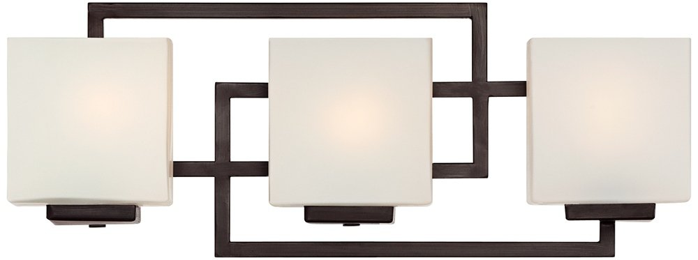 Lighting on the Square Bronze 21'' Wide Bath Wall Light by Possini Euro Design