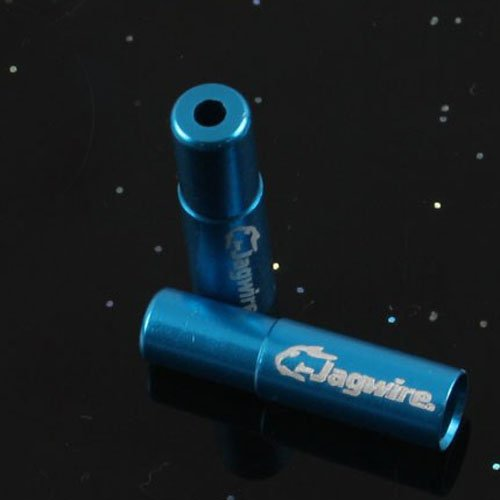 CNC Aluminum Alloy Jagwire Cable Housing End Caps Lined Ferrules 4pcs 5 Colors
