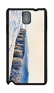 case retro cover winter mountains scenery PC Black case/cover for Samsung Galaxy Note 3 N9000