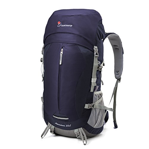 Mountaintop [2016 NEW] 50L Hiking Backpack Internal Frame Backpack for Outdoor Hiking Travel Climbing Camping Mountaineering with Rain Cover-5818III (Purple)