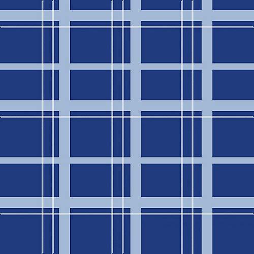 EQ EZ-Care Stable Sheet Plaid 78 Blue Plaid by Equiessentials