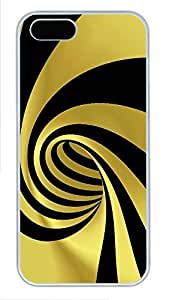 iPhone 5 5S Case Patterns Yellow Black PC Custom iPhone 5 5S Case Cover White