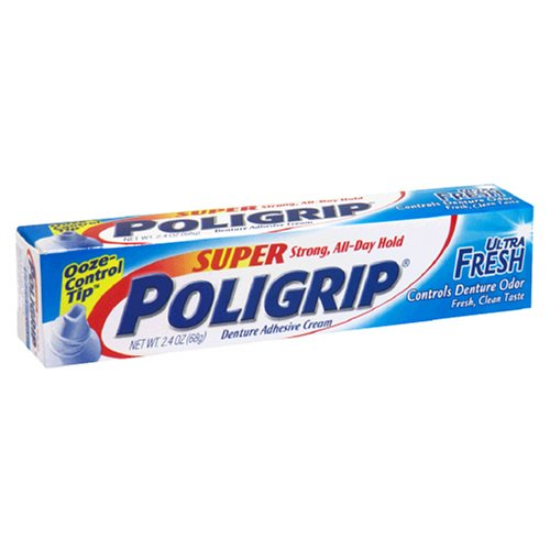 Super Poligrip Ultra Fresh Cream (Super PoliGrip Denture Adhesive Cream, Ultra Fresh, 2.4 oz (68 g))