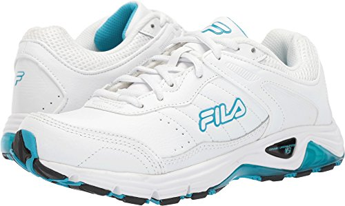 Fila Womens Memory Cool Sport Low Top Lace Up, White/Nebl/Hirs, Size 10.0