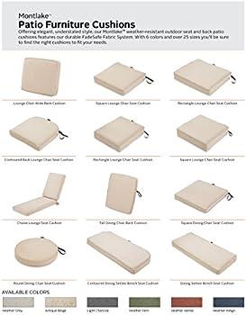 Amazon Com Classic Accessories Montlake Water Resistant 15 Dia X 2 Inch Patio Dining Seat Cushion Antique Beige Garden Outdoor